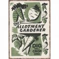 Allotment Gardener Metal Sign