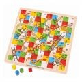 Wooden Snakes and Ladders Game